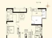 10-11C户型-3室2厅2卫-111.0㎡
